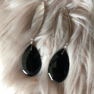 Jay King Black Drop Earrings